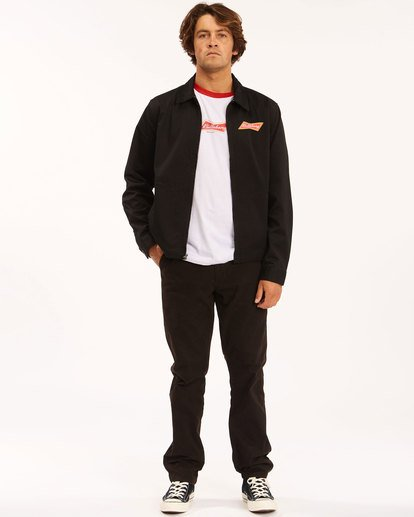 4 Budweiser Bow Station Jacket Black 9513912 Billabong