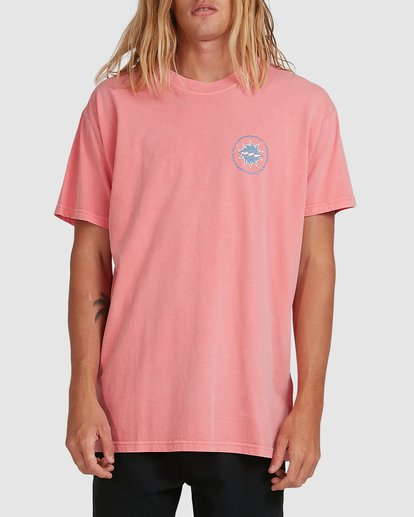 0 Holey Moley Short Sleeve Tee Pink 9517003 Billabong