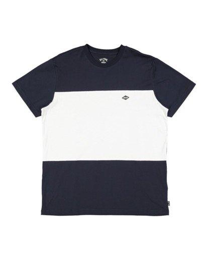 4 The Banded Panel Short Sleeve Tee Blue 9517016 Billabong