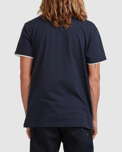 2 The Banded Panel Short Sleeve Tee Blue 9517016 Billabong