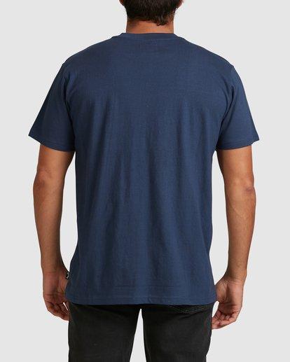 2 Banded Diecut Short Sleeve Tee Blue 9517019 Billabong