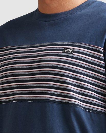 3 Banded Diecut Short Sleeve Tee Blue 9517019 Billabong