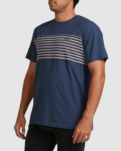 1 Banded Diecut Short Sleeve Tee Blue 9517019 Billabong