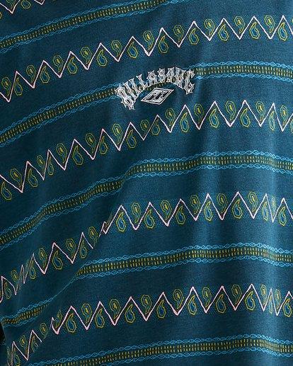 3 Full Rack Short Sleeve Tee Blue 9517025 Billabong
