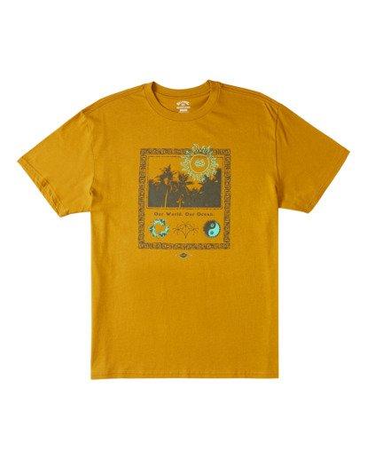 4 Our World Short Sleeve Tee Yellow 9517036 Billabong