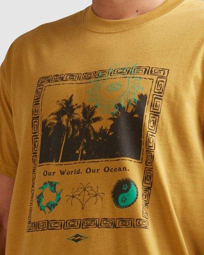 3 Our World Short Sleeve Tee Yellow 9517036 Billabong