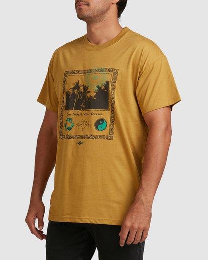 1 Our World Short Sleeve Tee Yellow 9517036 Billabong