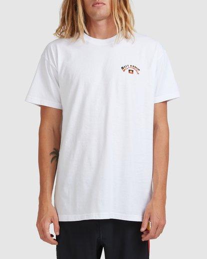 0 Otis Flag Arch Short Sleeve Tee White 9517081 Billabong