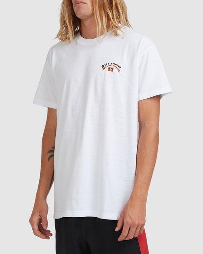 1 Otis Flag Arch Short Sleeve Tee White 9517081 Billabong