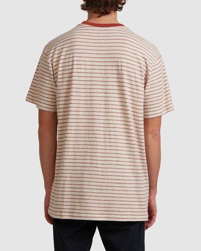 2 A/DIV El Dorado Hemp Stripe Crew T-Shirt Red 9517143 Billabong