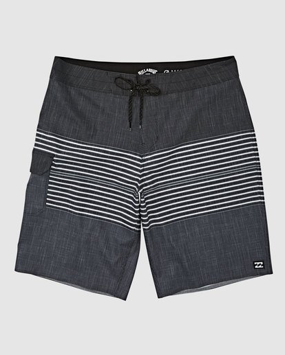 4 All Day Heather Stripe Pro Boardshorts Black 9517445 Billabong