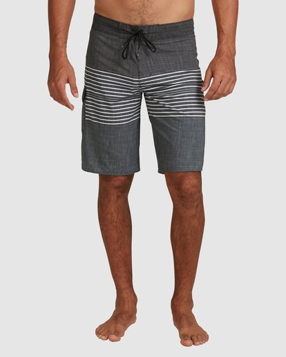 6 All Day Heather Stripe Pro Boardshorts Black 9517445 Billabong