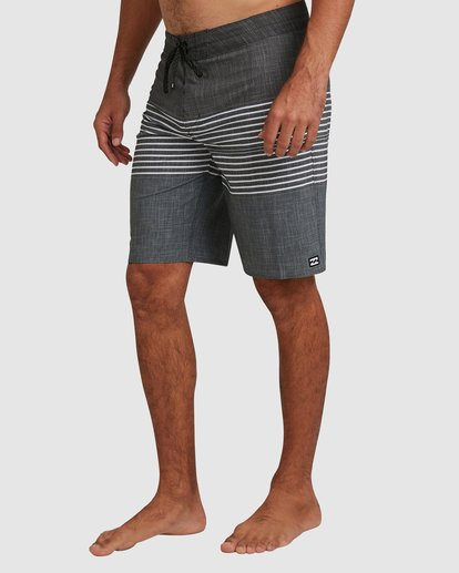7 All Day Heather Stripe Pro Boardshorts Black 9517445 Billabong