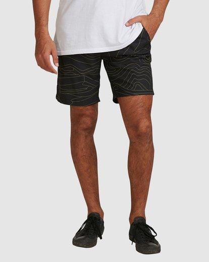 3 Surftrek Perf Dune Lines Shorts Black 9517716 Billabong