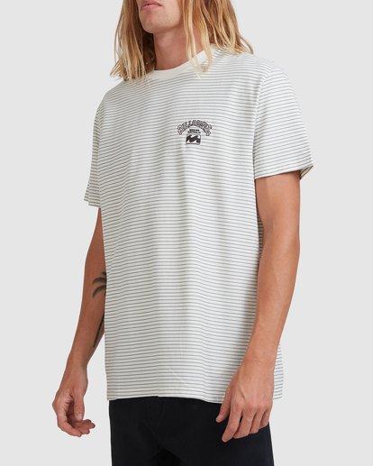 1 Native Stripe Short Sleeve Tee White 9518040 Billabong
