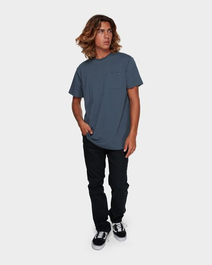 5 Premium Pocket Short Sleeve Tee Grey 9562046 Billabong