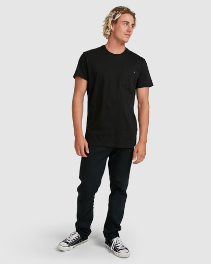 6 Premium Pocket Short Sleeve Tee Black 9562046 Billabong