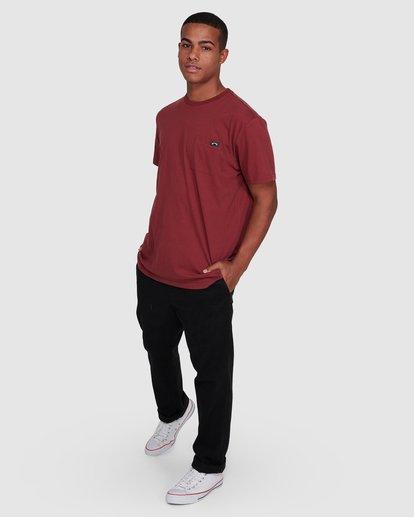 6 Premium Pocket Short Sleeve Tee Red 9562046 Billabong