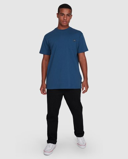 6 Premium Pocket Short Sleeve Tee Blue 9562046 Billabong