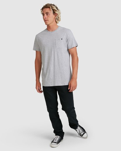 5 PREMIUM POCKET TEE Grey 9562046 Billabong