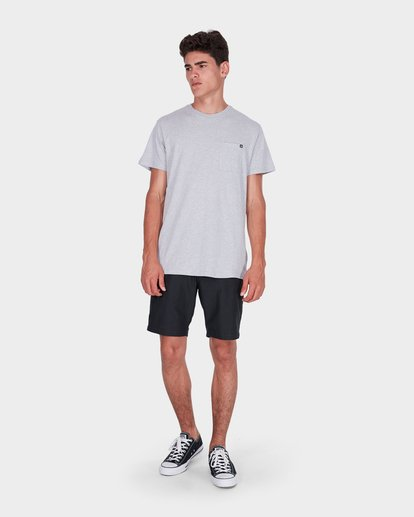 3 Premium Pocket T-Shirt Grey 9562046 Billabong