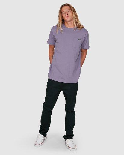 5 Premium Pocket Short Sleeve Tee Purple 9562046 Billabong
