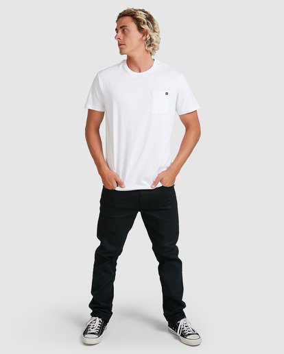 6 Premium Pocket T-Shirt White 9562046 Billabong