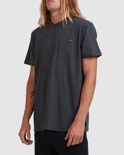 1 Premium Pocket Short Sleeve Tee Grey 9562046 Billabong