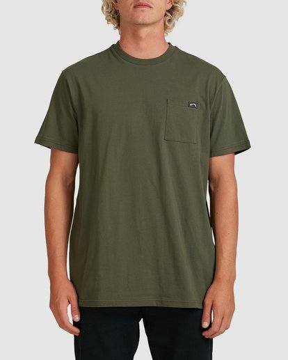 0 Premium Pocket Short Sleeve Tee Green 9562046 Billabong
