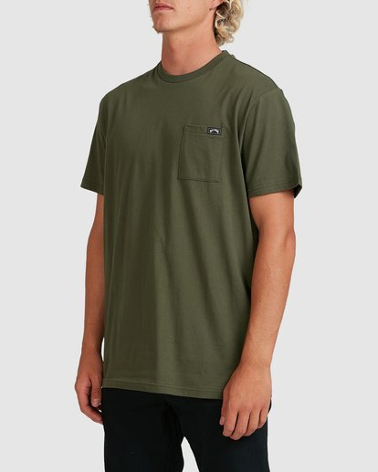 1 Premium Pocket Short Sleeve Tee Green 9562046 Billabong