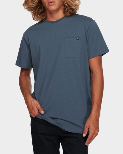 1 Premium Pocket Short Sleeve Tee Grey 9562046 Billabong