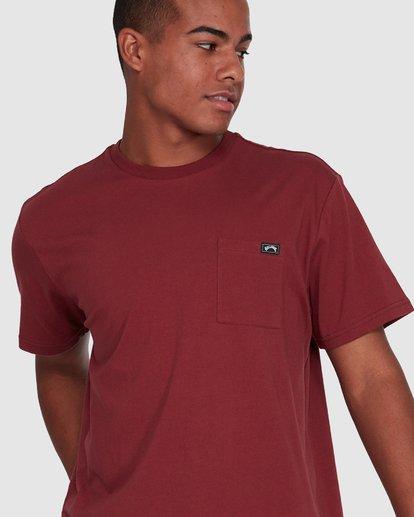 4 Premium Pocket Short Sleeve Tee Red 9562046 Billabong