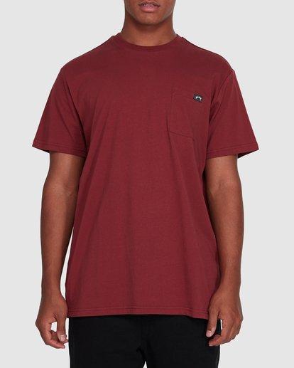 0 Premium Pocket Short Sleeve Tee Red 9562046 Billabong