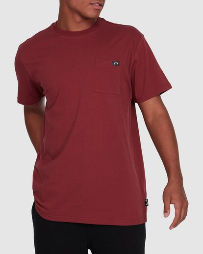 1 Premium Pocket Short Sleeve Tee Red 9562046 Billabong