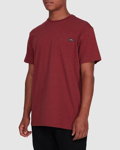 2 Premium Pocket Short Sleeve Tee Red 9562046 Billabong