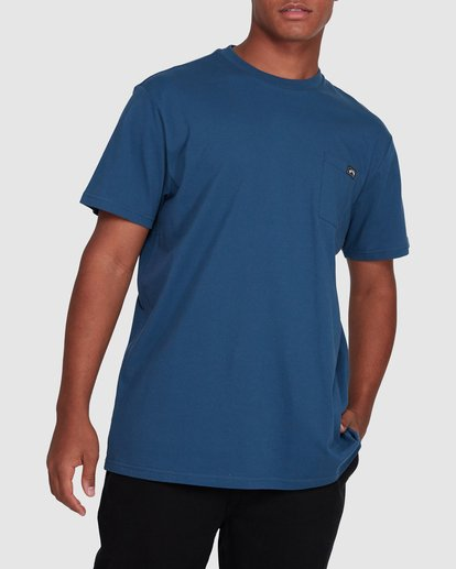 1 Premium Pocket Short Sleeve Tee Blue 9562046 Billabong