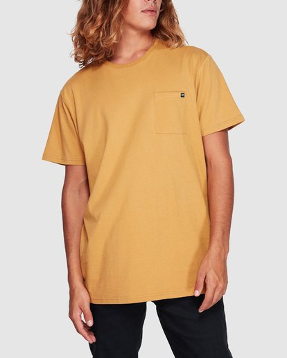 3 Premium Pocket Short Sleeve Tee Grey 9562046 Billabong