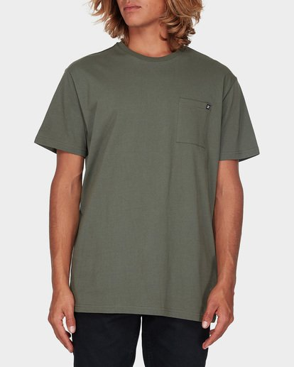 4 Premium Pocket Short Sleeve Tee Green 9562046 Billabong