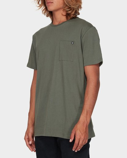 5 Premium Pocket Short Sleeve Tee Green 9562046 Billabong