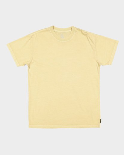 5 Premium Wave Wash Short Sleeve Tee Yellow 9572051 Billabong
