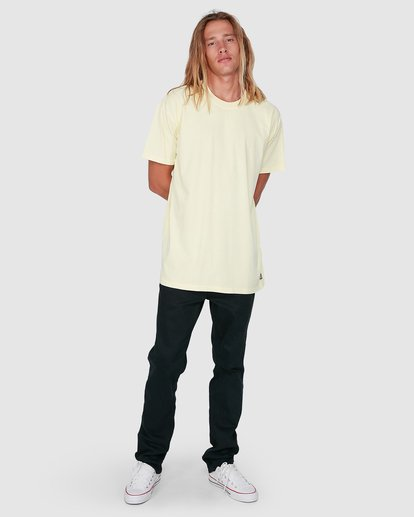 7 Premium Wave Wash Tee Yellow 9572051 Billabong