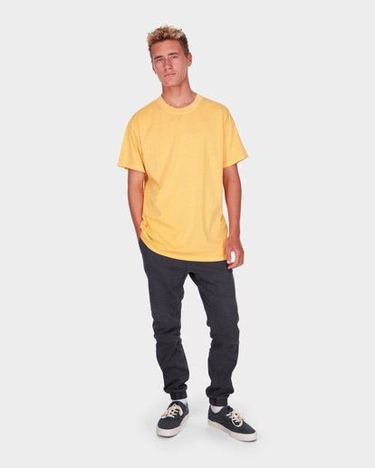 5 Premium Wave Wash Tee Yellow 9572051 Billabong