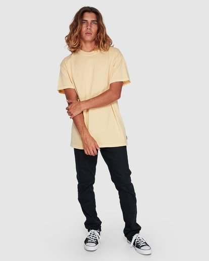 6 Premium Wave Wash Short Sleeve Tee Yellow 9572051 Billabong
