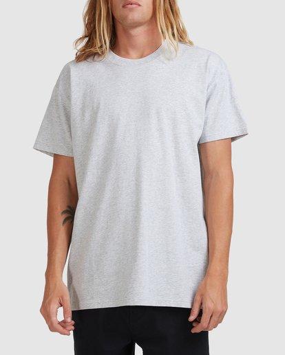 0 Premium Wave Wash Short Sleeve Tee Grey 9572051 Billabong