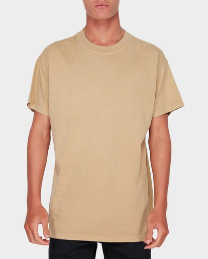 0 Premium Wave Wash Short Sleeve Tee Beige 9572051 Billabong