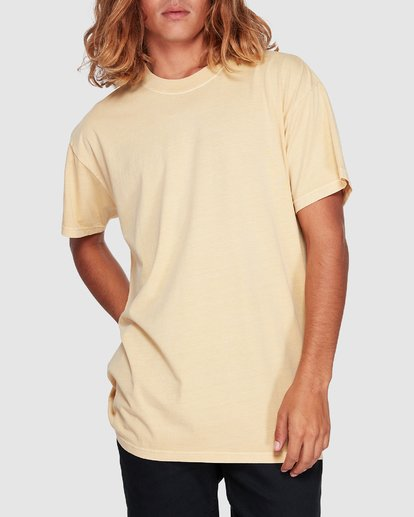 3 Premium Wave Wash Short Sleeve Tee Yellow 9572051 Billabong
