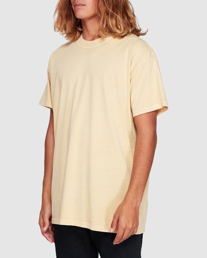 1 Premium Wave Wash Short Sleeve Tee Yellow 9572051 Billabong