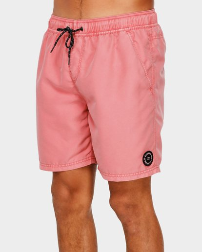 3 ALL DAY OVERDYE LAYBACK BOARDSHORTS Pink 9572439 Billabong