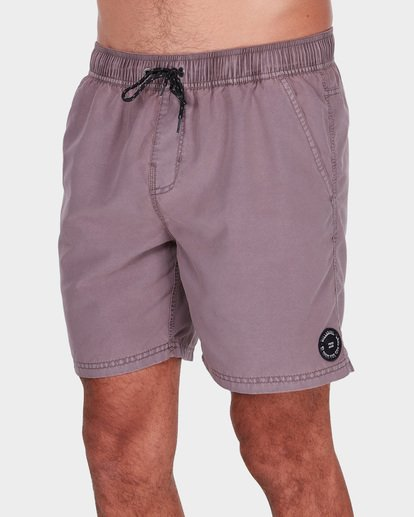 "3 ALL DAY OVERDYE 17"" LAYBACK BOARDSHORT Pink 9572439 Billabong"
