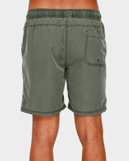 "4 ALL DAY OVERDYE 17"" LAYBACK BOARDSHORT Green 9572439 Billabong"